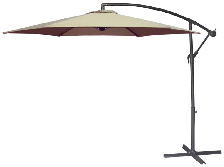 UMBRELLA OFFSET TAUPE 10FT
