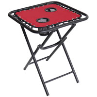 TABLE BUNGEE FOLDING RED 18IN