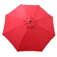 UMBRELLA MARKET RED 9FT