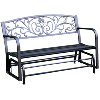 GLIDER BENCH DECORATIVE STEEL