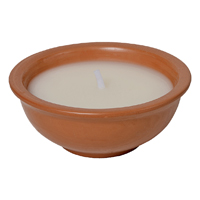 MintCraft Y2404 Terra Cotta Candle, 6 in Dia