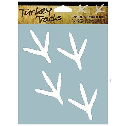 DECAL TURKEY TRACKS WHT 6X8IN