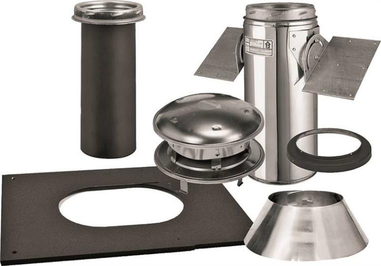 Sure-Temp 206621 Pitched Ceiling Support Kit, 6 in, Stainless Steel