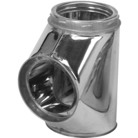 Selkirk 207100 Insulated Chimney Tee with Tee Cap, 7 in, Stainless Steel