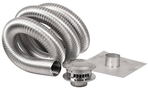 GAS VENT TYPE B, 4 IN X 35 FT CHIMNEY KIT