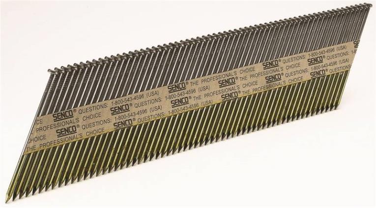 Senco K529ASBXN Stick Framing Nail, 0.131 in x 3-1/2 in, 34 deg