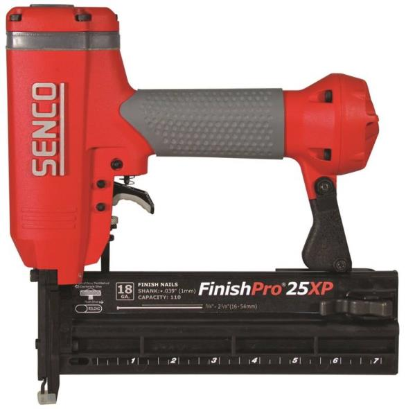 FinishPro25XP 760102N Brad Nailer, 110 Nails, 5/8 - 2-1/8 in 18 ga Adhesive Collated Nail