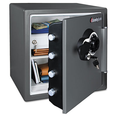 Fire-Safe w/Combination Access, 1.23 ft3, 16.38 x 19.38 x 17.88, Gray