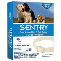 Sentry Pro 2067 Flea and Tick Collar, Solid, White/Off-White