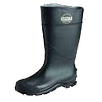 BOOT PVC PLN TOE 16IN BLACK 9