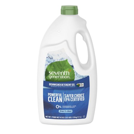 Natural Automatic Dishwasher Gel, Free and Clear/Unscented, 42 oz Bottle, 6/Carton