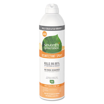 Disinfectant Aerosol Sprays, Fresh Citrus/Thyme, 13.9 oz, Spray Bottle