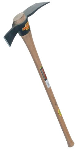 SEYMOUR CUTTER MATTOCK, 5 LBS. WITH #6 EYE AND 36 IN. HICKORY HANDLE