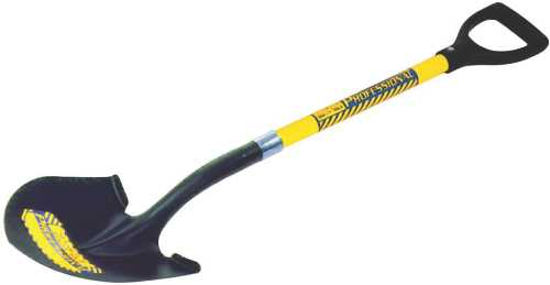 SEYMOUR 40 SERIES ROUND POINT SHOVEL PROFESSIONAL GRADE WITH 28 IN. FIBERGLASS HANDLE AND PERMA GRIP