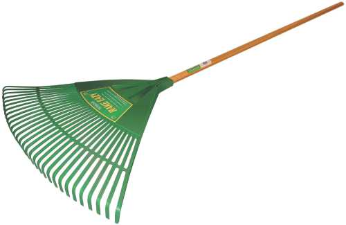 "SEYMOUR POLY LEAF RAKE WITH 33"" HEAD, 30 TINE AND 48"" WOOD HANDLE"