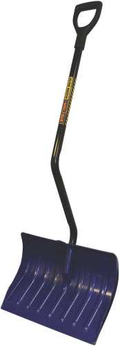 STRUCTRON� ERGONOMIC SNOW SHOVEL WITH BENT STEEL HANDLE AND D-GRIP