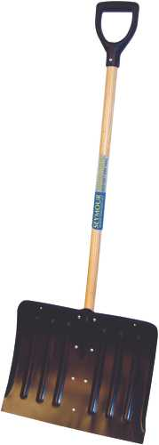 "SEYMOUR STEEL SNOW SHOVEL WITH 18"" HEAD AND 41"" WOOD HANDLE"