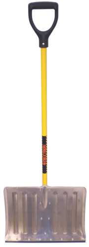 STRUCTRON� ALUMINUM SNOW SHOVEL WITH 18 IN. HEAD, WEAR STRIP, 42 IN. FIBERGLASS HANDLE