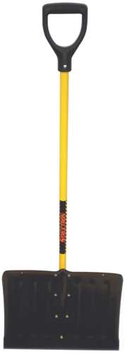 STRUCTRON� STEEL SNOW SHOVEL WITH 18 IN. HEAD AND 41 IN. FIBERGLASS HANDLE