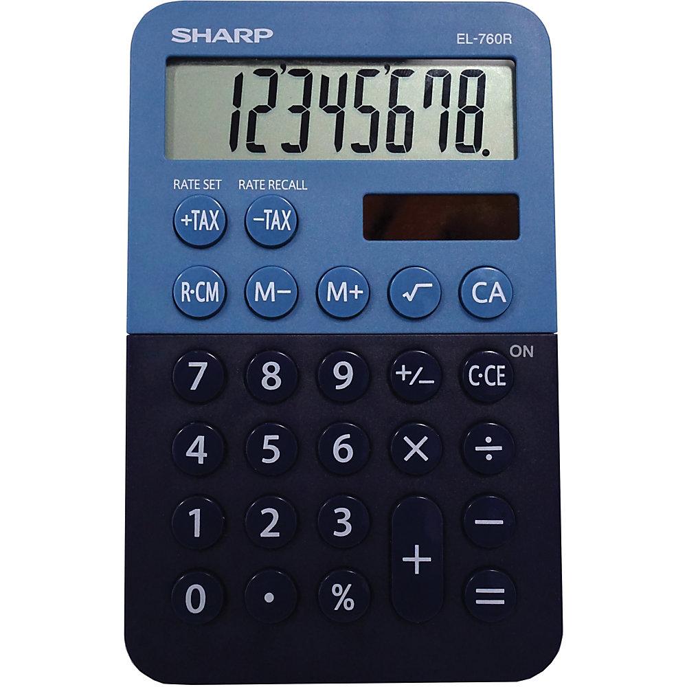 EL-760RBBL Handheld Calculator, 8-Digit LCD