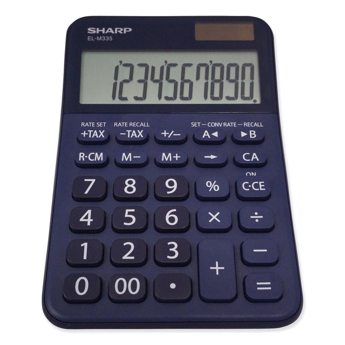 ELM335BBL Desktop Calculator, 10-Digit LCD, Blue