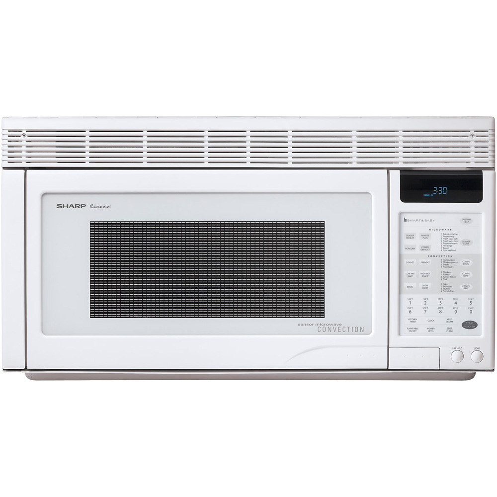 1.1 cu. ft., 850w Over the Range Convection Sensor Microwave, Interactive, White