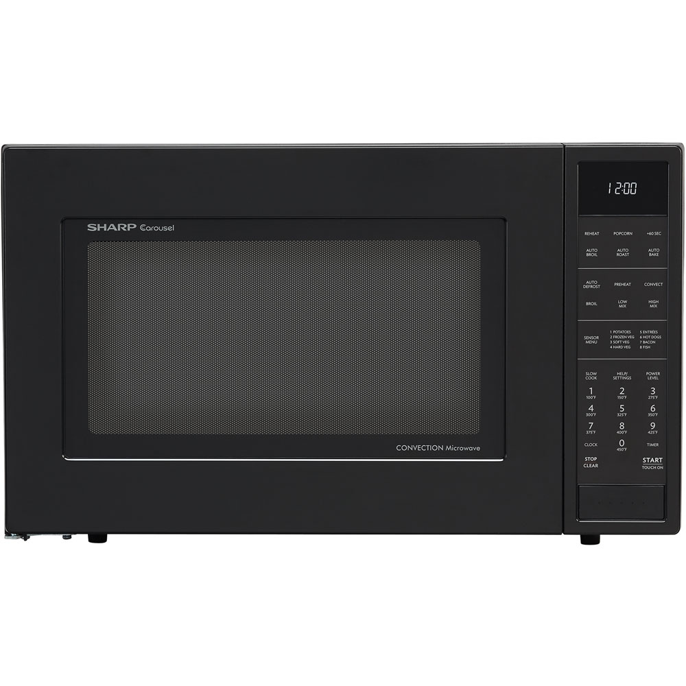 1.5 cu. ft., 900w Carousel Countertop Convection Microwave Oven, Sensor Interactive, Matte Black