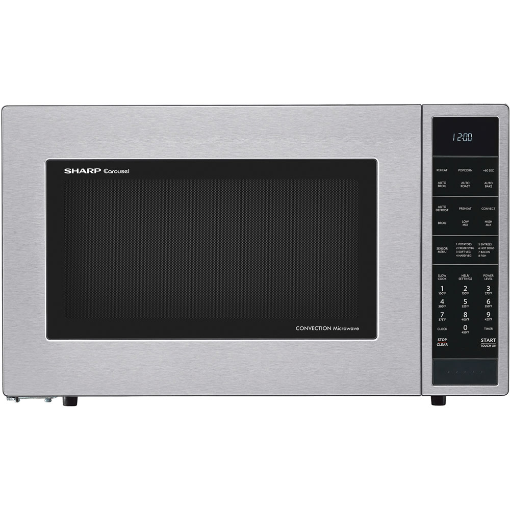 1.5 cu. ft., 900w Carousel Countertop Convection Microwave Oven, Sensor Interactive, Stainless Steel