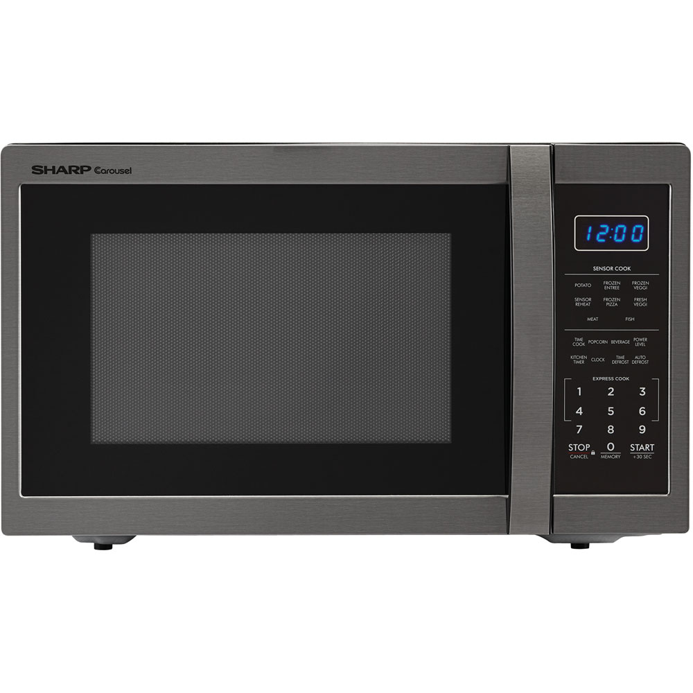 "1.4 Cu Ft 1100w Microwave Oven w/ 12.4"" turntable, Sensor. Blue LED Display"