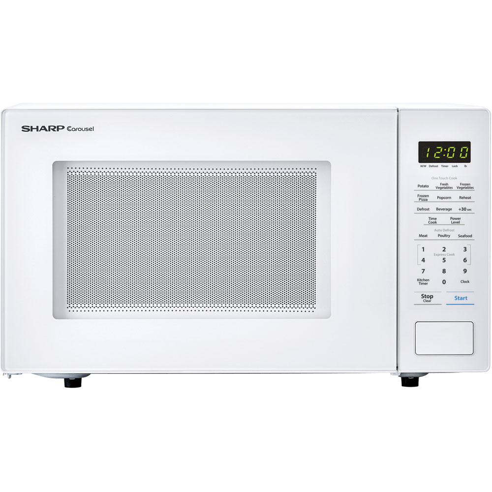 "1.1 cu ft 1000w touch microwave, 11.25"" turntable, Bezel-less Design"