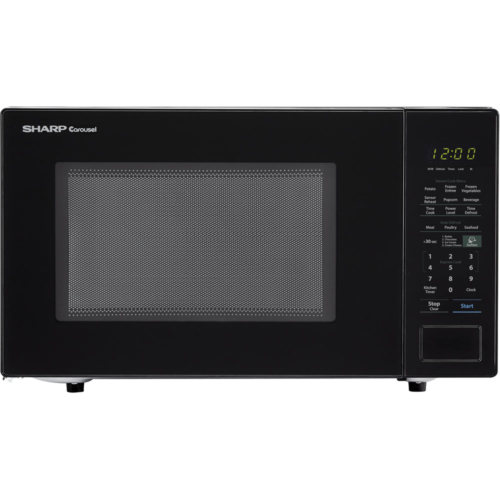 "1.4 Cu Ft 1000w microwave w/ 12.75"" turntable, Sensor. Bezel-less Design"