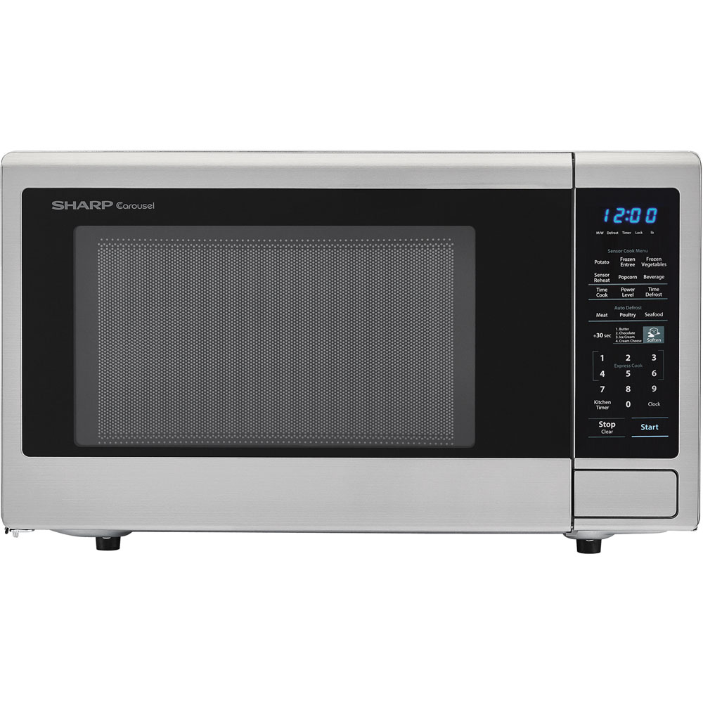 1.8 CF Microwave, 1100W, Sensor Cooking, Blue LED Display