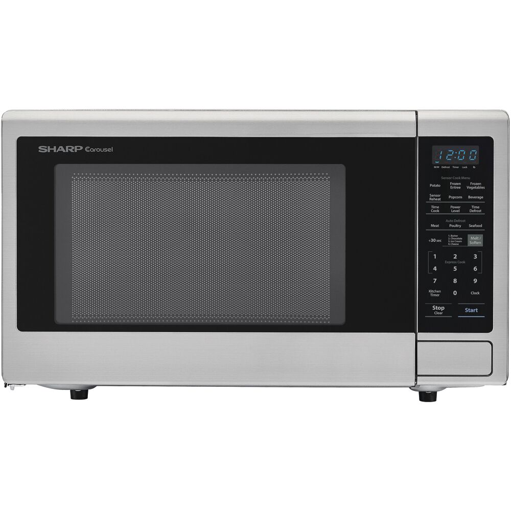 "2.2 CF Microwave, 1200W, 16"" Turntable, Sensor, 10 Power Levels"