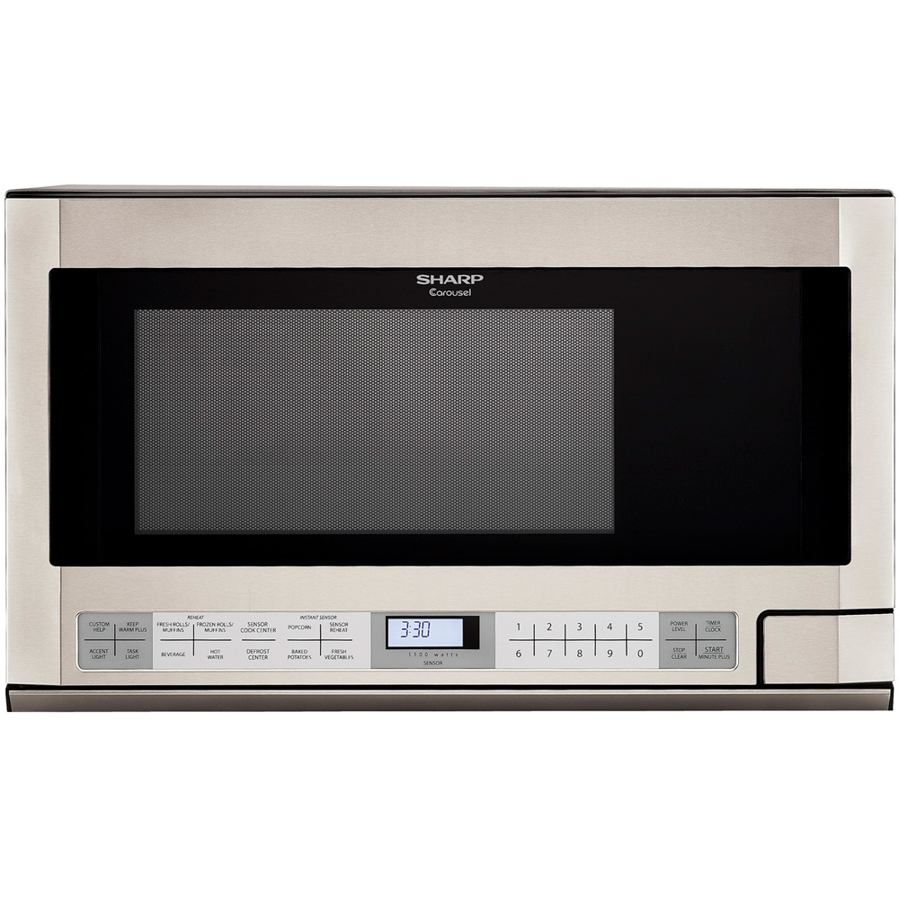1.5 cu. ft., 1100w Carousel Over-the-Counter Microwave Oven, Stainless Steel