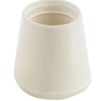 TIP FURNITURE LEG WHT 1-1/8IN