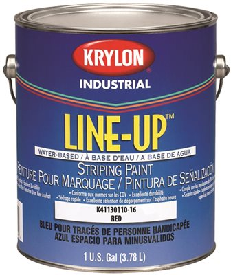 KRYLON HEAVY-DUTY LATEX TRAFFIC PAINT 1 GALLON RED