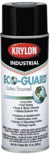 KRYLON ECO GUARD LATEX SPRAY PAINT 12 OZ GLOSS BLACK