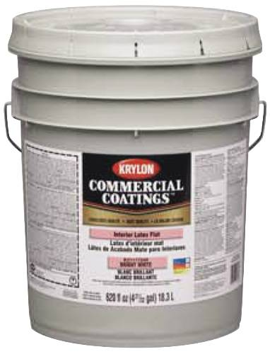 5 Gal. Krylon Latex Paint Gold Semigloss Linen White