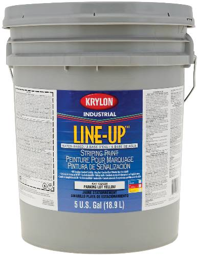 KRYLON HEAVY-DUTY LATEX TRAFFIC PAINT 5 GALLON YELLOW