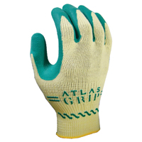 Kids Atlas Grip 310 Protective Gloves, Size 6, X-Small, Cotton, Green on Yellow