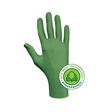 GLOVES NITR DISPO GREEN 4MIL L