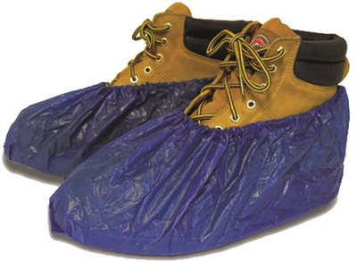 SHUBEE WATERPROOF SHOE COVERS, DARK BLUE, 40 PAIR PER BOX