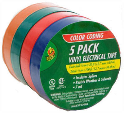 07205 5PAK COLORED TAPE