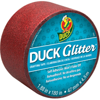 Shurtech 282504 Duck Glitter Tape, 1.88 in W x 5 yd L, Red?
