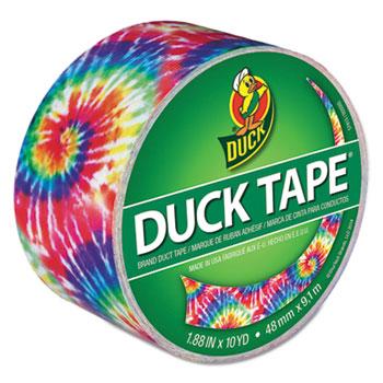 Shurtech 283268 Printed Duct Tape, 1.88 in W x 10 yd L, Love Tie Dye