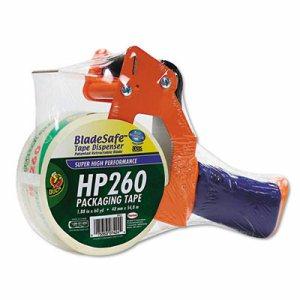 "Bladesafe Antimicrobial Tape Gun w/Tape, 3"" Core, Metal/Plastic, Orange"