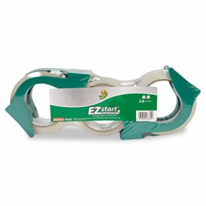 EZ Start Premium Packaging Tape, 2 60yd Rolls, Bonus 30yd Roll, Clear, 3/Pack
