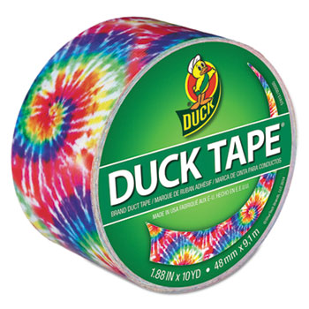 "Colored Duct Tape, 9 mil, 1.88"" x 10 yds, 3"" Core, Love Tie Dye"