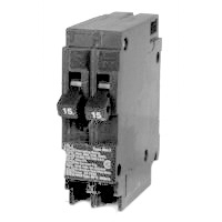 MES MP1515 Type MP-T Duplex NCL Tandem Circuit Breaker, 120/240 VAC, 15/15 A, 1 P, 10 kA
