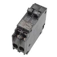 MES MP2020 Type MP-T Duplex Tandem Circuit Breaker, 120/240 VAC, 20/20 A, 1 P, 10 kA